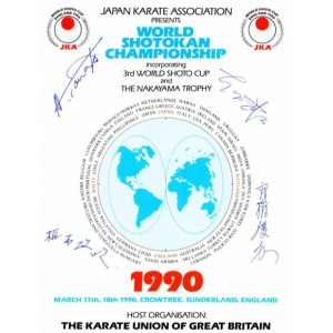 1990 3rd World Shoto Cup Programme