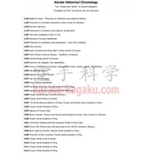 Karate Chronology