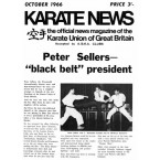Karate News Oct 1966 Cover